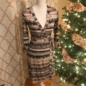 Calvin Klein snake print wrap dress